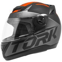 Capacete Fechado Pro Tork Evolution G7 Preto E Laranja Fosco -