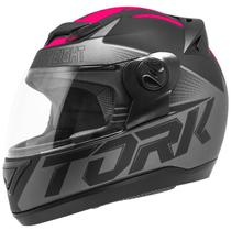 Capacete Fechado Pro Tork Evolution G7 Preto E Rosa Fosco -