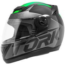 Capacete Fechado Pro Tork Evolution G7 Preto E Verde Brilhante -