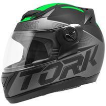 Capacete Fechado Pro Tork Evolution G7 Preto E Verde Fosco -