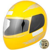 Capacete Fechado Pro Tork Liberty Four Viseira Cristal Amarelo -