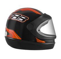 Capacete Fechado Pro Tork New Sport Moto 788 Automático modelo san marino Preto/Laranja -
