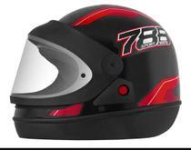 Capacete Fechado Pro Tork New Sport Moto 788 Automático modelo san marino Preto/Vermelho -