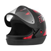 Capacete Fechado Pro Tork New Sport Moto Preto/Vermelho -