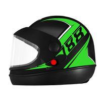 Capacete Fechado Pro Tork Super Sport 2019 Moto Preto/Verde -