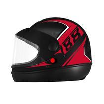 Capacete Fechado Pro Tork Super Sport 2019 Moto Preto/Vermelho -