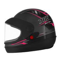 Capacete Fechado Pro Tork Super Sport Moto ABS Grafite/Rosa -