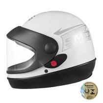 Capacete Fechado Sport Moto Branco Pro Tork -