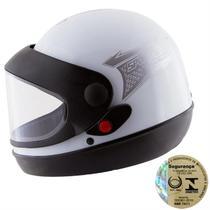 Capacete Fechado Sport Moto Prata Pro Tork -