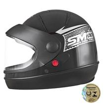 Capacete Fechado Sport Moto Preto Pro Tork -