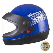 Capacete Fechado Sport Para Moto Azul Pro Tork -