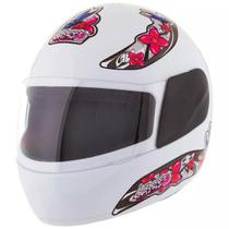 Capacete feminino de moto liberty 4 branco girls - Pro Tork