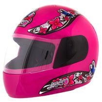 Capacete Feminino de Moto Liberty 4 Rosa Girls - Pro Tork