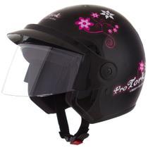 Capacete Feminino De Moto Libety 3 Preto Girls - Pro Tork