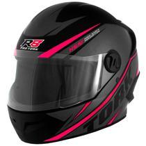 Capacete feminino de moto r8 cinza/rosa - Pro Tork