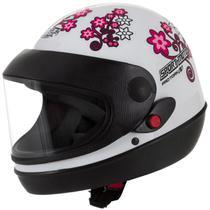Capacete feminino de moto sport moto branco for girls - Pro Tork