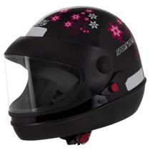 Capacete feminino de moto sport moto preto for girls - Pro Tork