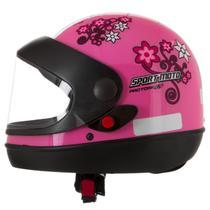 Capacete feminino de moto sport moto rosa for girls - Pro Tork