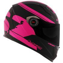 Capacete Feminino Ls2 FF358 Fluo Preto Fosco Rosa Pink -