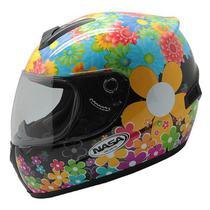 Capacete Feminino Nasa SH-821 Flowers - Tamanho: 60 -