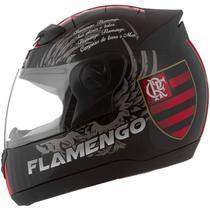 Capacete Flamengo Moto Fechado Pro Tork Evolution G4 Preto Brilhante -