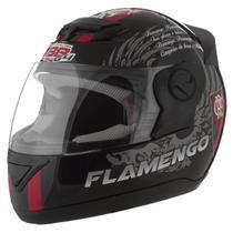 Capacete Flamengo Oficial Moto Pro Tork Evolution G4 Preto Brilhante -