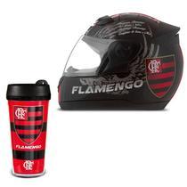 Capacete Flamengo Pro tork Evolution 3G + Copo Térmico -