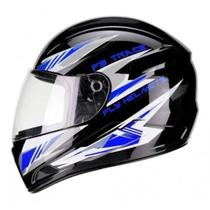 Capacete Fly F9 Trace Preto/azul - Fly Capacetes