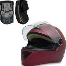 Capacete Fw3 Gt Classic Vermelho Bordô 60 C/ Multimídia Moto -