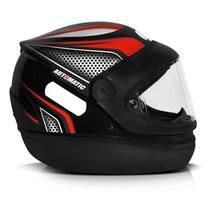 Capacete Fw3 X Helmet Automatic Preto Com Vermelho -