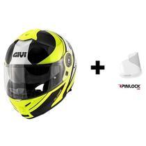 Capacete Givi X21 Globe Amarelo Fluo/Preto + Pinlock -