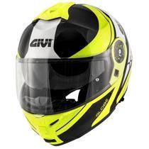 Capacete Givi X21 Globe Amarelo Fluo/Preto -