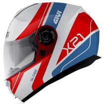 Capacete Givi X21 Globe Branco/Vermelho/Azul -