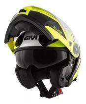 Capacete givi x21 globe graphic black fluo yellow -