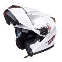 Capacete Gladiador Moto Texx Gladiator Articulado Robocop Branco - 60 -