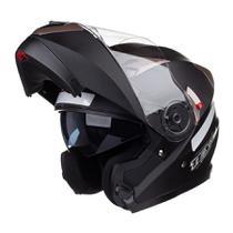 Capacete Gladiador Moto Texx Gladiator Articulado Robocop Preto Fosco - 56 -