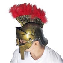 Capacete gladiador romano elmo com pena cosplay fantasia - Lynx Produções artistica