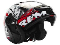 Capacete Gladiator RPM Mixs Preto e Vermelho - Tam. 60