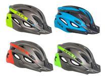 Capacete Gta Sinalizador Led Ciclismo Mtb Cores Linha Pro -