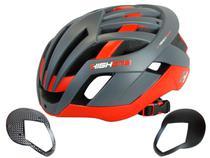 Capacete high one bike mtb pro space cinza/vermelho -