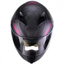 Capacete icon fast preto fosco/rosa - PEELS