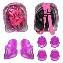 Capacete infantil bicicleta skate com kit proteção e mochila - Elleven