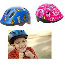 Capacete infantil com ajuste 6 furos para bike skate patins menino menina ciclismo bicicleta - MAKEDA