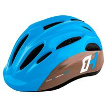 Capacete Infantil High One Piccolo Azul/Cinza Bike Skate Patins c/ Regulagem