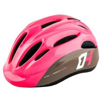 Capacete Infantil High One Piccolo Rosa/Cinza Bike Skate Patins c/ Regulagem