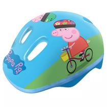 Capacete Infantil Para Patins Ou Bike Peppa Pig Azul Dtc -