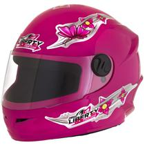 Capacete Infantil Pro Tork Liberty Four For Girls C/ Engate Rápido 54