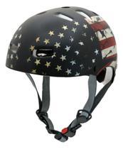 Capacete Kraft Bike Skate Patins USA Estados Unidos Preto Fosco -