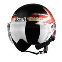 Capacete Kraft Plus Inglaterra Preto Fosco Tamanho 57 -