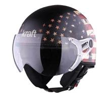 Capacete Kraft Plus USA Preto Fosco -